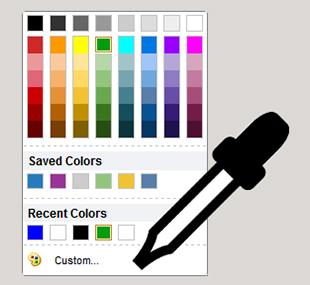 Selezione colori migliorata