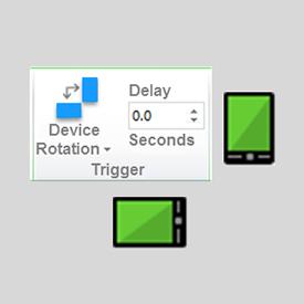 Rotazione del dispositivo e vista attuale