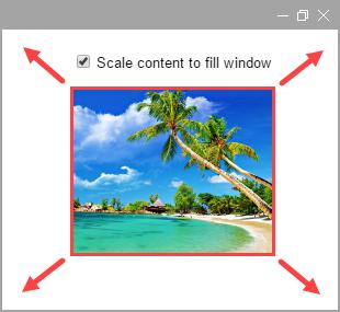 Adatta i contenuti pubblicati alla dimensione della finestra